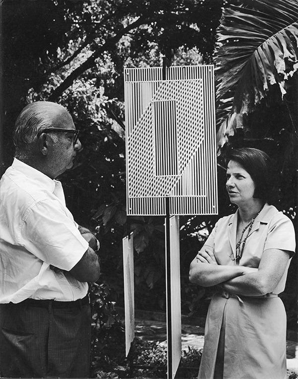 Sofía Ímber con Carlos Raúl Villanueva