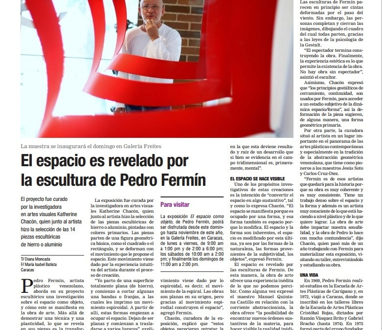 Por primera vez en Venezuela se presentará la pintura de Donald Sultan