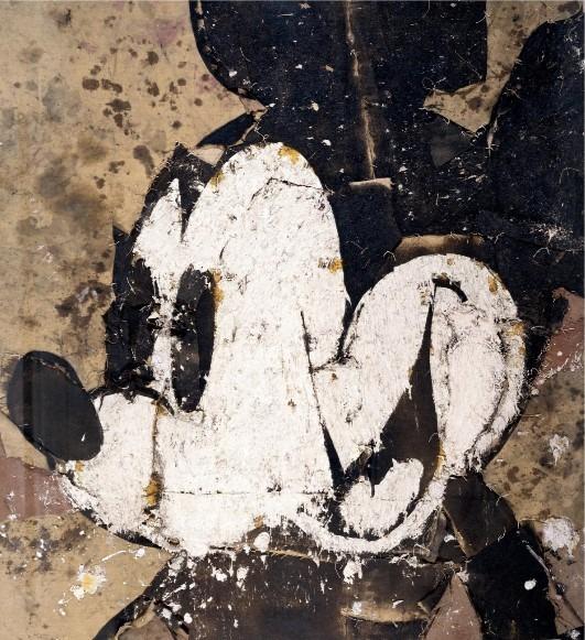 Los Mickey Mouse de Manolo Valdés en un catálogo de la Galería Freites